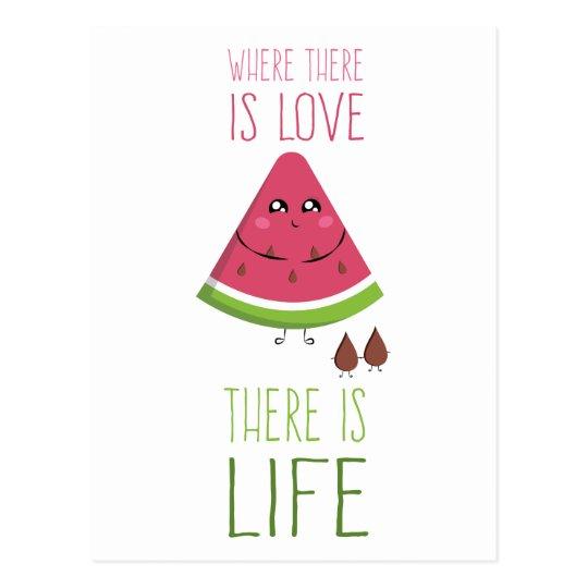 Carte Postale Cute Watermelon