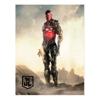 Carte Postale Cyborg de la ligue de justice | sur le champ de