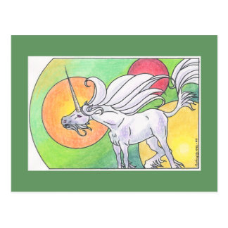 Carte Postale Cycle de licorne - ressort ©1999
