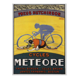 CARTE POSTALE CYCLES METEORE