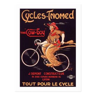 """Carte Postale Cycles Tnomed """"annonce française vintage de vélo"""