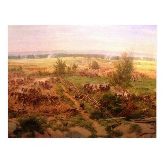 Carte Postale Cyclorama vintage Paul Philippoteaux de Gettysburg