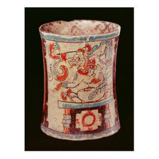 Carte Postale Cylindrique dépeignant une divinité avec des