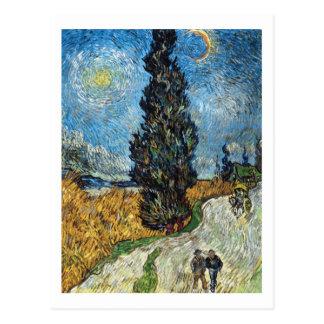 Carte Postale Cypress contre un ciel étoilé par Vincent van Gogh