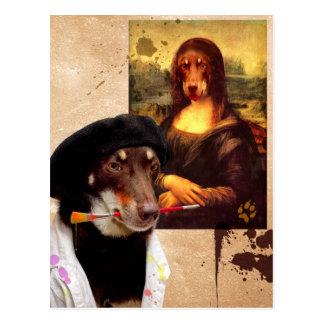 Carte Postale Da Vinci et la Mona Lisa