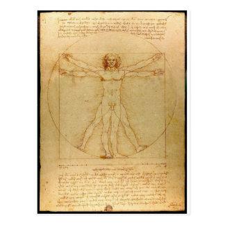 Carte Postale Da Vinci Vitruve Luc Viatour