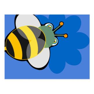 Carte postale d'abeille de miel