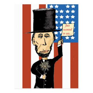 Carte postale d'Abraham Lincoln