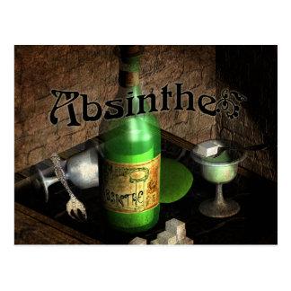 Carte Postale D'absinthe de plateau toujours la vie