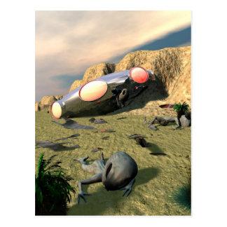 Carte postale d'accident d'UFO de Roswell