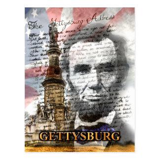 Carte postale d'adresse de Gettysburg