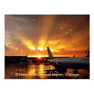 Carte postale d'aéroport international d'O'Hare