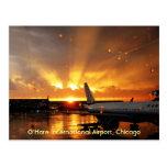 Carte postale d'aéroport international d'O'Hare (C