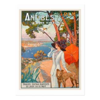 Carte postale d'affiche d'Antibes