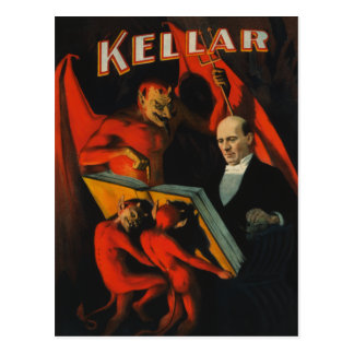 Carte postale d'affiche de Harry Kellar