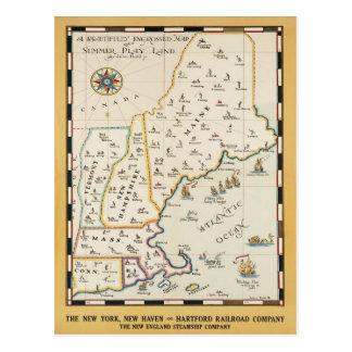 Carte postale d'affiche de voyage de carte de la