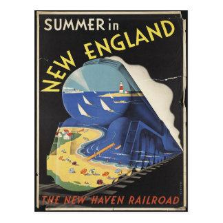 Carte postale d'affiche de voyage de la Nouvelle