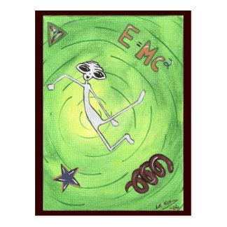 Carte postale d'alien d'E MC2