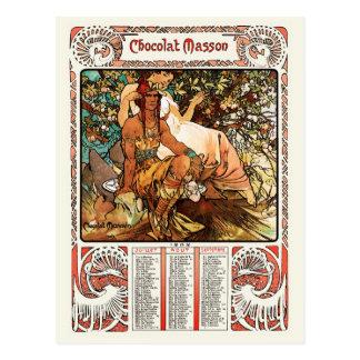 Carte postale d'Alphonse (Alfons) Mucha :  Âge mûr