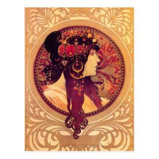 Carte postale d'Alphonse Mucha Donna Orechini