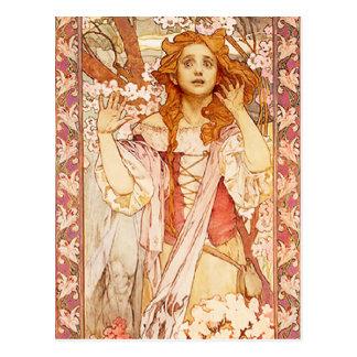 Carte postale d'Alphonse Mucha Jeanne d'Arc