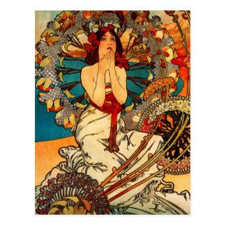 Carte postale d'Alphonse Mucha Monte Carlo