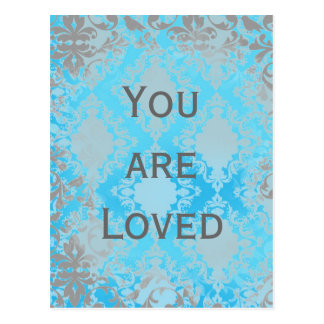 Carte Postale Damassé affligée par cru vous êtes aimés