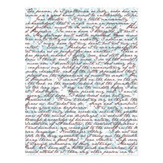 Carte Postale Damassé de Jane Austen