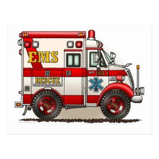 Carte postale d'ambulance de camion de boîte