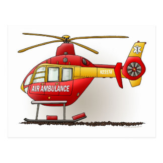 Carte postale d'ambulance d'hélicoptère