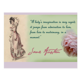 Carte Postale Dames imagination, citation de Jane Austen