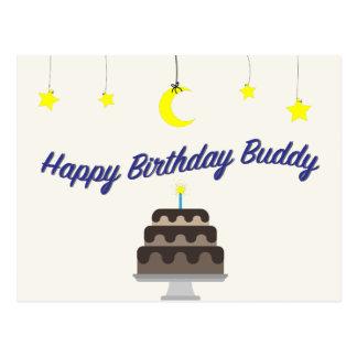 Carte postale d'ami de joyeux anniversaire par