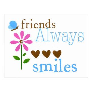 Carte Postale D'amis sourires toujours