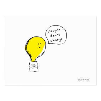 carte postale d'ampoule
