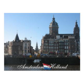 Carte postale d'Amsterdam Hollande