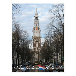 Carte postale d'Amsterdam Zuiderkerk Hollande