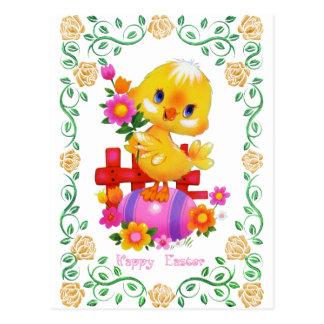 Carte postale d'amusement de vacances de canard de