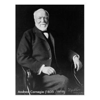 Carte postale d'Andrew Carnegie