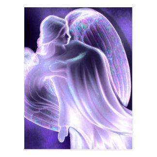 Carte postale d'ange bleu