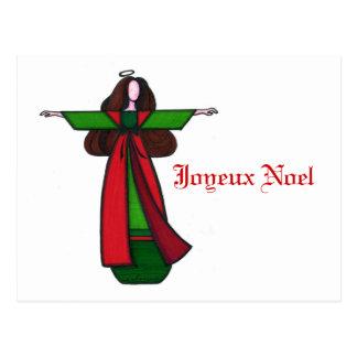 Carte postale d'ange de Noël