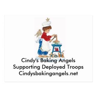 Carte postale d'anges de la cuisson de Cindy pour