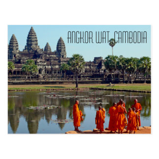 Carte postale d'Angkor Vat Cambodge