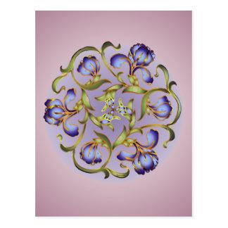 Carte postale d'anneau d'iris