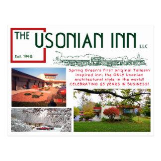 Carte postale d'anniversaire d'auberge d'Usonian