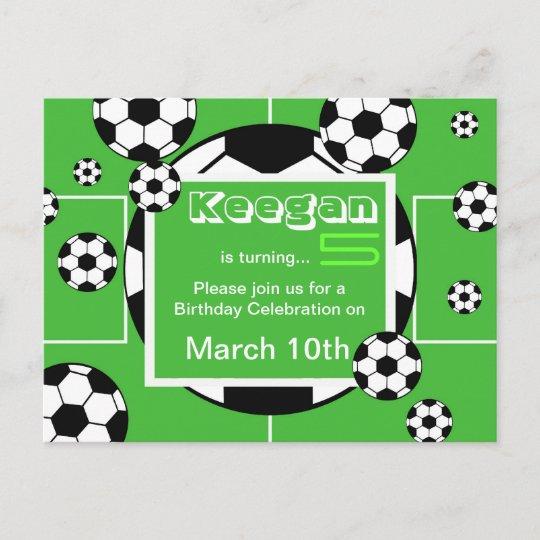 Carte postale d'anniversaire du football | Zazzle.fr