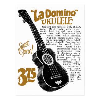 Carte postale d'annonce d'Uke de domino