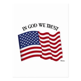 Carte Postale Dans Dieu nous faisons confiance pour le drapeau