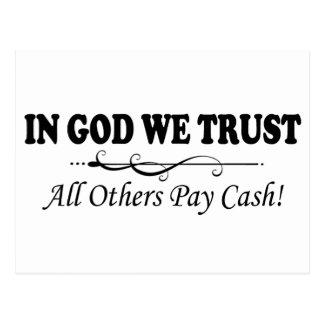 Carte Postale Dans Dieu nous faisons confiance, tous les autres