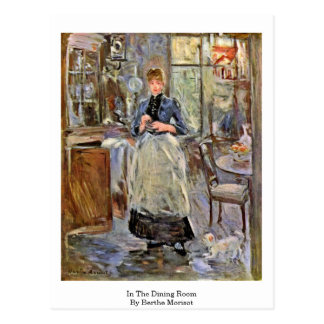 Carte Postale Dans la salle à manger par Berthe Morisot