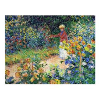 Carte Postale Dans le jardin par Claude Monet
